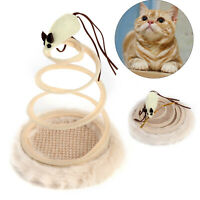 Pet Interactive Spring Activity Cat/Kitten Toy Bouncing/Sway Spiral Play/Mouse