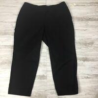 NEW Talbots Women's Pull Over Curvy Perfect Crop Pants ~ 18W ~ Black