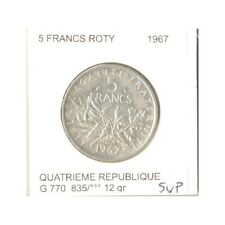 FRANCE 5 FRANCS ROTY 1967 SUP