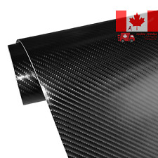 4D Carbon Fiber Adhesive Car Vinyl Wrap Sticker with Air Release 11 5 x60 Black