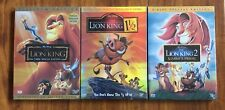 The Lion King 1, 1.5, and 2 Trilogy Brand New 3-DVD Set