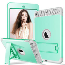 For iPad 234 / Mini 12345 Shockproof Hybrid Silicone Rugged Stand Slim Back Case