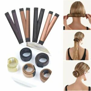 French Hair Bun Bands Twist Easy Snap Former Styling Donut Maker DIY Tool Magic