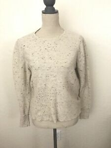 Eileen Fisher Organic Cotton And Wool Beige Sweater Size SP
