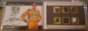 2017 PANINI NATIONAL TREASURES RACE USED PATCH AUTO BOOKLET KYLE BUSCH #'D 4/10