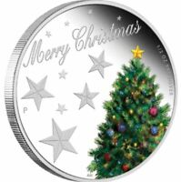 2013 CHRISTMAS Coloured Silver Proof Coin