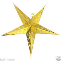 GOLD STAR Paper Light SHADE Ceiling Lampshade LANTERN 60cm Wedding Decoration