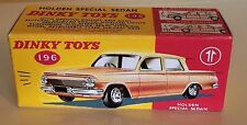 Dinky 196 Holden Special Sedan Empty Repro Box Only