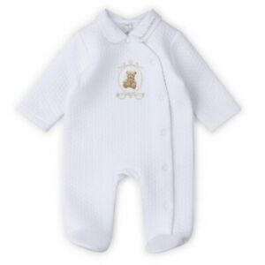 Baby boys girls Spanish style quilted bear baby grow all in one 0-9 months