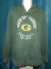 NFL Team GREEN BAY PACKERS Green LS Zip Hoodie Sweatshirt Women's XL