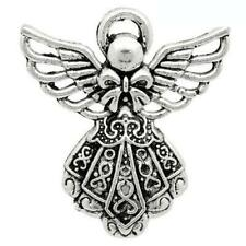 Angel Charm/Pendant Tibetan Antique Silver 26mm  10 Charms Accessory Jewellery