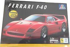 Italeri Ferrari F40 Model Kit Ref 657 Escala 1:24, Nuevo
