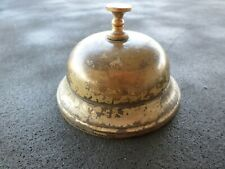Antique 1887 Spinner Cast Iron Brass Desk Bell Antique Hotel