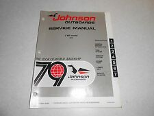 1979 2 hp Genuine JOHNSON EVINRUDE Outboard Repair & Service Manual 2hp