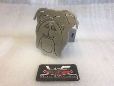 """Bulldog Face Hitch Cover - 1/8"""" Steel - Tow Towing Reese Custom"""