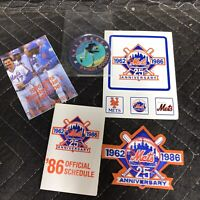 NEW YORK METS 1962-1986 -- 25TH ANNIVERSARY -- PATCH -- 4 INCHES ACROSS