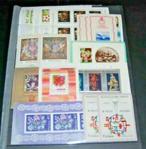 Poland  Souvenir Sheet  Collection - Lot  NH  OG  XF   SEE PHOTOS