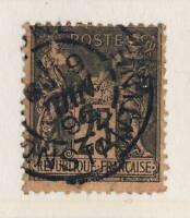 """FRANCE / ALGÉRIE - 1896 CACHET """" BONE / CONSTANTINE """" sur N°97 25c SAGE T.II"""
