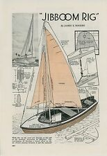 1936 Magazine Article How To Build Jib Boom Rig for Small Boat Boating Sailing