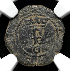 Ferdinand and Isabella - Sponsors of Columbus - 1474-1504, Blanca, NGC VF20