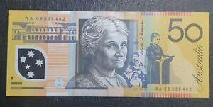 First Prefix AA 2008 Australian $50 banknote