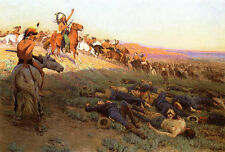Custer's Last Stand  by Richard Lorenz   Giclee Canvas Print Repro