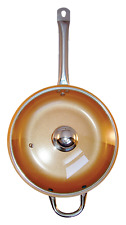 Cooper Frying Pan 12 inches With Glass Lid Ceramic Infused Non Stick Induction
