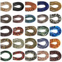 Wholesale Natural Round Ball Spacer Charm Loose Beads 3MM 4MM 6MM 8MM 10MM DIY
