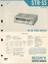 Sony STR-S5 Original Stereo Receiver Service Manual