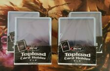 MTG POKEMON YUGIO Card Protectors BCW 3 x 4 Top Loaders WHITE Border (4) 25 ct