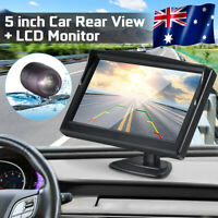 12-24V Car Rear View Camera IR Night Vision REVERSING Waterpoof+ 5'' Car Monitor
