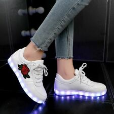 Boys&girls Luminous Sneakers Led Shoes Light Up Usb Rechargeable 7 Color