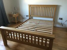 Solid oak shaker style double bed