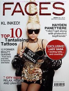 FACES 2009 MALAYSIA General Interest Magazine LADY GAGA COVER RARE NEW