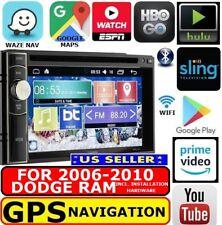06 07 08 09 10 Dodge Ram Cd/Dvd Gps Nav System W/ Wifi Bluetooth Usb Car Stereo