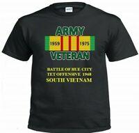 "BATTLE OF HUE CITY 1968  SOUTH VIETNAM""ARMY VIETNAM CAMPAIGN & VINYL SHIRT/SWEAT"