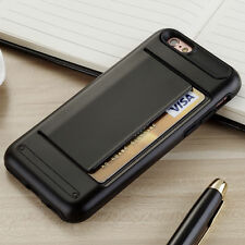 BLACK CLIP Case iPhone 5 6 7 Samsung Credit Card Storage Slide Wallet Slim ID