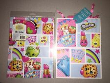 NEW SHOPKINS GIFT WRAP WRAPPING PAPER & GIFT BAG WITH TISSUE PAPER SET #2