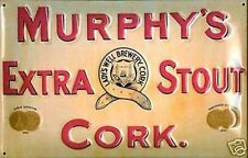 Murphys Extra Stout embossed steel sign 300mm x 200mm (hi)