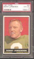 1961 Topps #95 Sonny Jurgenson HOF PSA 8 NrMt-Mint!