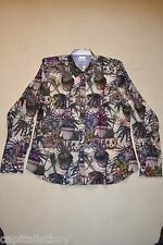 "Paul Smith MAINLINE Purple POTPLANT Print Shirt 'S"" NEW"