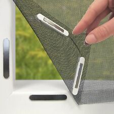 EASYmaxx 150x130cm Moustiquaire Magnétique de Fenêtre - Noire