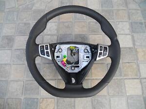 Steering Wheel Saab 9-3 since 2006 leather flat bootom