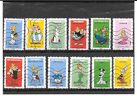 FRANCE 2019. ASTERIX.  SERIE COMPLETE DE 12 TIMBRES AUTOADHESIFS OBLITERES