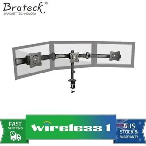 Brateck Triple Monitor Arm Mounts with Desk Clamp Up to 27in Monitors Up to 8...