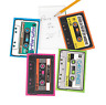 Pack of 12 - Retro 80s Cassette Shaped Notepads - Party Bags Favours Fillers