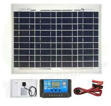 10w Poly Solar Panel Battery Charging Kit Charger Controller Boat Caravan HomeK1
