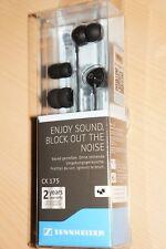 100% New In Box Sennheiser CX175 In-Ear Earphone Headphones Headset PremiumBlack
