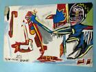 Jean-Michel Basquiat  Hand-painted acrylic painting on wood