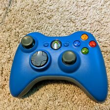 Microsoft Xbox 360 Blue Wireless Controller Genuine OEM Tested See Pictures